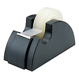 75% Recycled Tape Dispenser, 1in Core, Black (AbilityOne 7520-00-240-2411) - 1 Each MAIN