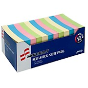 2in x 3in 30% Recycled Self-Stick Notes, Multicolor, Pack Of 12 (AbilityOne) 12  - Dozen THUMBNAIL