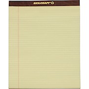 SKILCRAFT 30% Recycled Perforated Writing Pads, 8 1/2in x 11in, Yellow, Legal Ruled 12  - Dozen THUMBNAIL