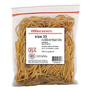 Office Depot Brand Rubber Bands, #33, 3 1/2in x 1/8in, 1/4Lb. Bag THUMBNAIL