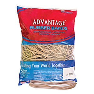 Alliance Rubber Advantage Rubber Bands, 7in x 1/8in, Natural Crepe, Bag Of 200 MAIN