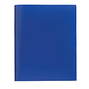 Office Depot Brand 2-Pocket Poly Folder with Prongs, Letter Size, Blue - 1 Each MAIN