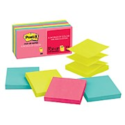 Post-it Notes Pop-Up Notes, 3in x 3in, Cape Town - Pack Of 12 Pads THUMBNAIL