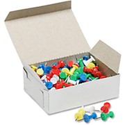 SKILCRAFT Color Pushpins, Assorted Colors, Box Of 100 (AbilityOne 7510-01-207-3978) - Box Of 100 THUMBNAIL