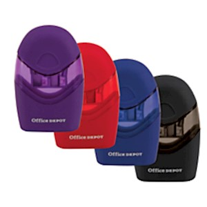 Office Depot Double-Hole Manual Pencil Sharpener, Assorted Colors - 1 Each MAIN