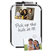 FORAY Magnetic Dry-Erase Board, 8-1/2in x 11in, White Board, Black Plastic Frame - 1 Each THUMBNAIL