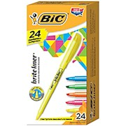 BIC Brite Liner Highlighters, Assorted - Box Of 24 THUMBNAIL