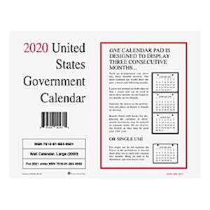 Unicor Monthly Wall Calendar, 8-1/2in x 11in, White, January To December 2020, Pack - Pack Of 10 MAIN