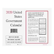 Unicor Monthly Wall Calendar, 8-1/2in x 11in, White, January To December 2020, Pack - Pack Of 10 THUMBNAIL