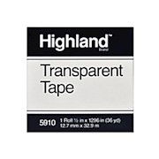 3M Highland 5910 Transparent Tape, 1/2in x 1,296in - Roll Of 1 THUMBNAIL