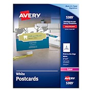 Avery Laser Post Cards, 4in x 6in, White - Box Of 100 THUMBNAIL
