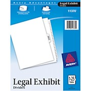 Avery 20% Recycled Avery-Style Premium Collated Legal Index Exhibit Dividers, Side-Tab - Set Of 1 THUMBNAIL