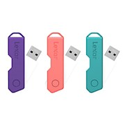 Lexar JumpDrive TwistTurn2 USB 2.0 Flash Drive, 16GB, Assorted Colors, LJDTT2-16GABOD20 - 1 Each THUMBNAIL