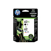 HP 62/62XL Black/Tricolor Ink Cartridges (N9H67FN), Pack Of 2 Cartridges - 1 Each THUMBNAIL