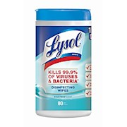 Lysol Disinfecting Wipes, Ocean Fresh Scent, Tub Of 80 - 1 Each THUMBNAIL