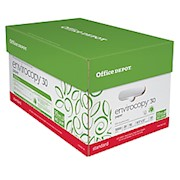 Office Depot EnviroCopy Paper, Letter Size (8 1/2in x 11in), 20 Lb, 30% Recycled - Case Of 10 THUMBNAIL