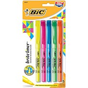 BIC Brite Liner Highlighters, Chisel Point, Assorted, 5-Pack - Pack Of 5 THUMBNAIL