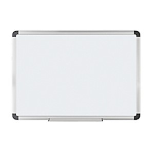 FORAY Magnetic Dry-Erase Board With Aluminum Frame, 36in x 48in, White Board, Silver - 1 Each MAIN