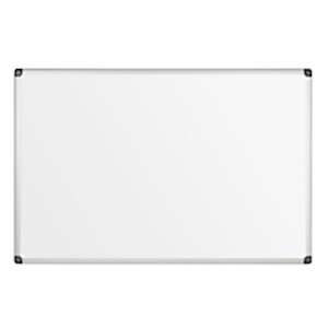 FORAY Melamine Dry-Erase Board, 24in x 36in, White, Aluminum Frame, Silver - 1 Each MAIN