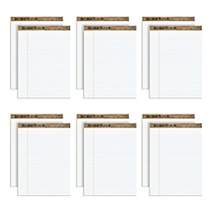 TOPS Second Nature 100% Recycled Writing Pads, 8 1/2in x 11 3/4in, Legal Ruled, 50 12  - Dozen MAIN