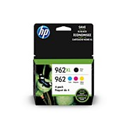 HP 962XL High Yield Black and HP 962 Cyan, Magenta, Yellow Original Ink Cartridges - 1 Each THUMBNAIL