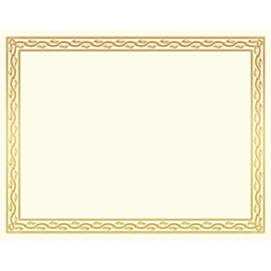 Geographics 30% Recycled Blank Parchment Certificates, 8 1/2in x 11in, Serpentine - Pack Of 12 MAIN