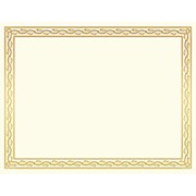 Geographics 30% Recycled Blank Parchment Certificates, 8 1/2in x 11in, Serpentine - Pack Of 12 THUMBNAIL