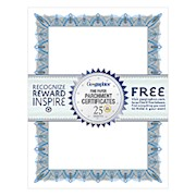 Geographics 30% Recycled Blank Parchment Certificates, 8 1/2in x 11in, Unique Blue - Pack Of 25 THUMBNAIL