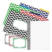 Barker Creek Multidesign Get Organized Kit, Letter Size, Chevron Nautical - Set Of 107 THUMBNAIL