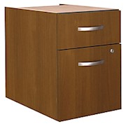 Bush Business Furniture Components 20-1/6inD Vertical 2-Drawer 3/4 Pedestal - 1 Each THUMBNAIL