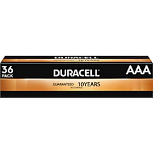 Duracell Coppertop Alkaline AAA Batteries - Box Of 36 Batteries MAIN