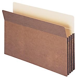 Smead Expanding File Pockets, 3 1/2in Expansion, 9 1/2in x 14 3/4in, 30% Recycled, Redrope - 1 Each MAIN