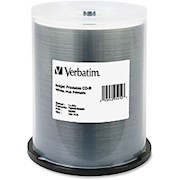 Verbatim CD-R Printable Disc Spindle, White - Pack Of 100 THUMBNAIL