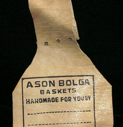 Ason Leather Basket Tag MAIN