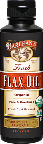 ORGANIC CLEAR FLAX OIL LARGE