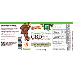 SERIOUSLY DELICIOUS® CBD CHOCOLATE MINT 25MG SWATCH