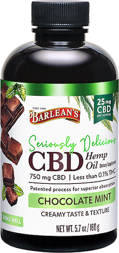 SERIOUSLY DELICIOUS® CBD CHOCOLATE MINT 25MG LARGE