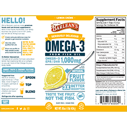 SERIOUSLY DELICIOUS® OMEGA-3 FISH OIL LEMON CRÈME SWATCH