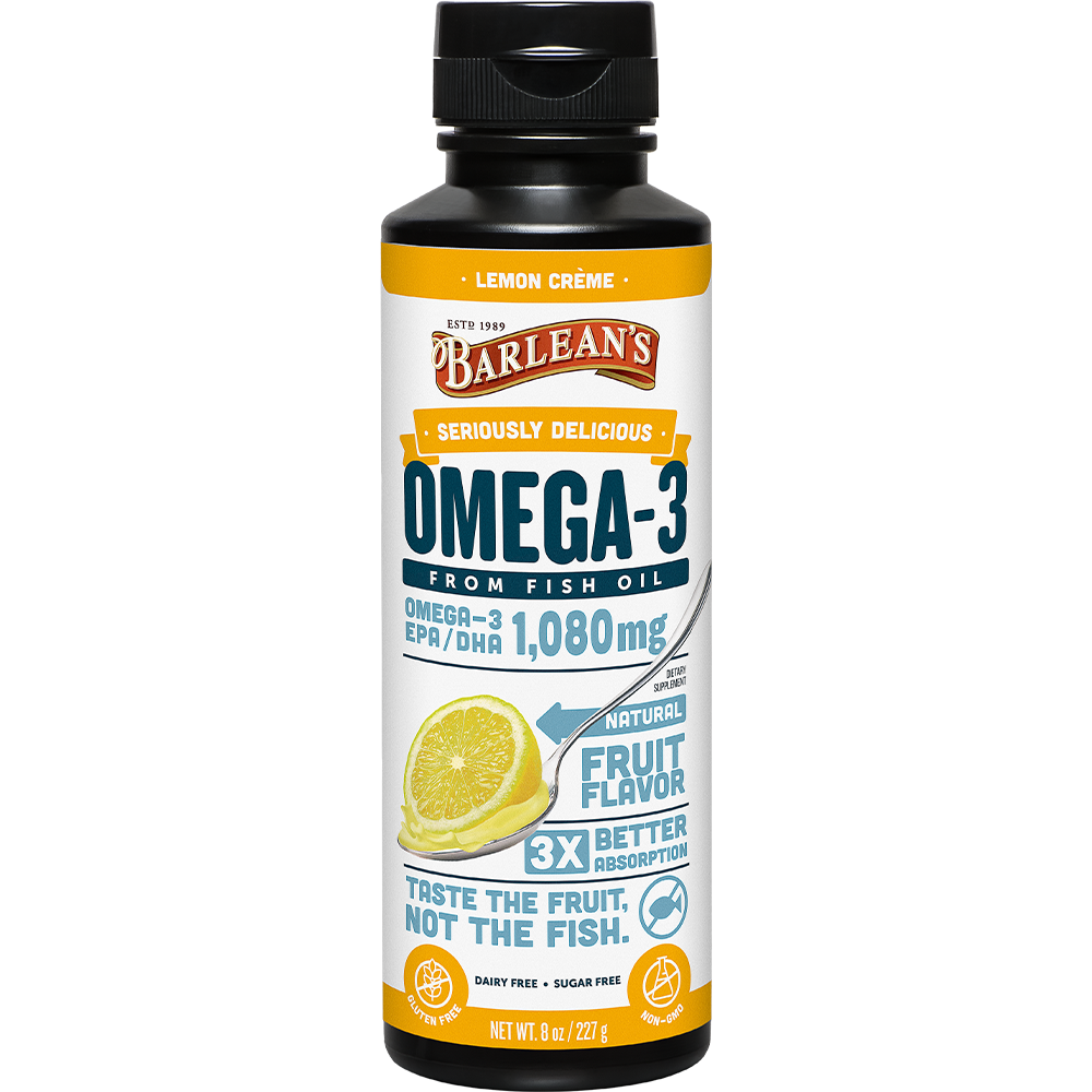 SERIOUSLY DELICIOUS® OMEGA-3 FISH OIL LEMON CRÈME MAIN