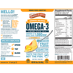 SERIOUSLY DELICIOUS® OMEGA-3 FISH OIL MANGO PEACH SMOOTHIE SWATCH