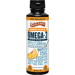 SERIOUSLY DELICIOUS™ OMEGA-3 FISH OIL MANGO PEACH SMOOTHIE THUMBNAIL