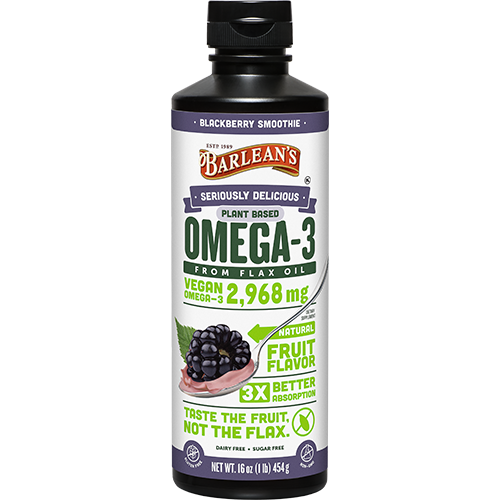 SERIOUSLY DELICIOUS® OMEGA-3 FLAX OIL BLACKBERRY SMOOTHIE LARGE