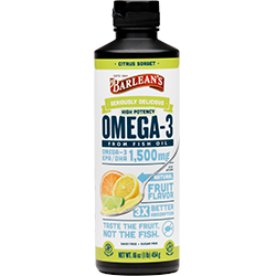 SERIOUSLY DELICIOUS™ OMEGA-3 HIGH POTENCY FISH OIL CITRUS SORBET THUMBNAIL