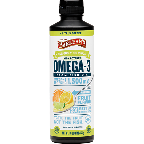 SERIOUSLY DELICIOUS® OMEGA-3 HIGH POTENCY FISH OIL CITRUS SORBET LARGE