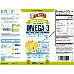 SERIOUSLY DELICIOUS® OMEGA-3 HIGH POTENCY FISH OIL CITRUS SORBET SWATCH
