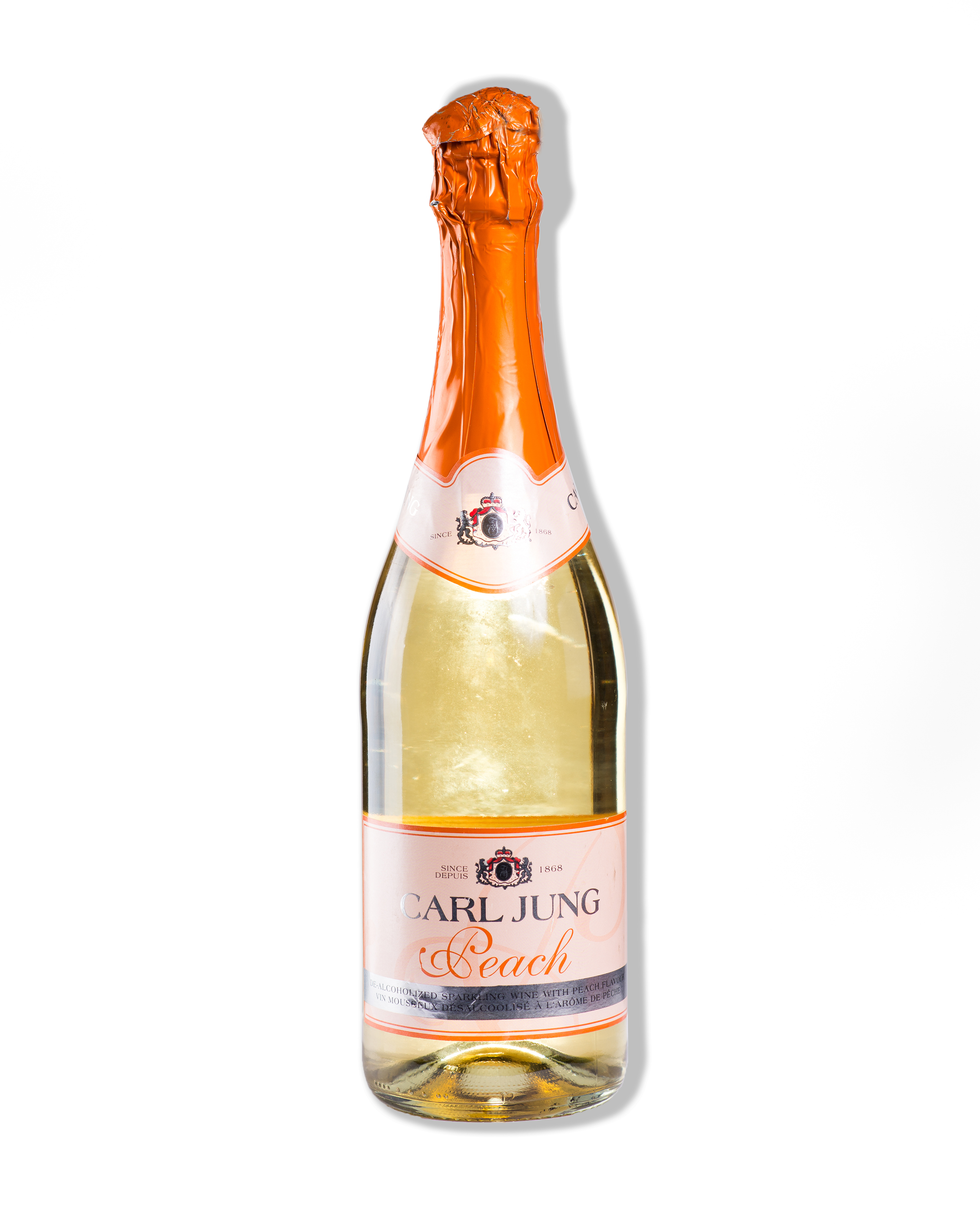 #4399 Dry Peach Sparkling White Alcohol Free Wine