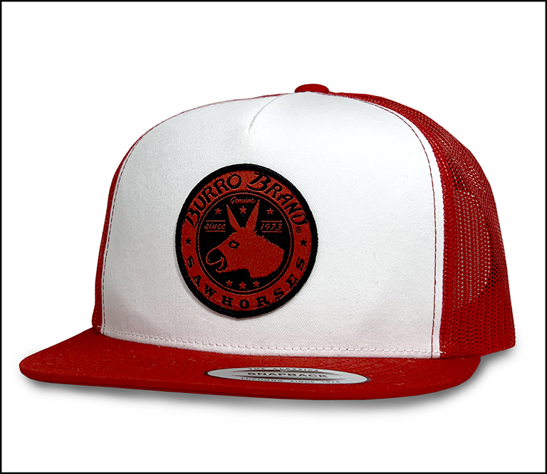 BURRO SNAPBACK - WHITE WITH RED MESH MAIN