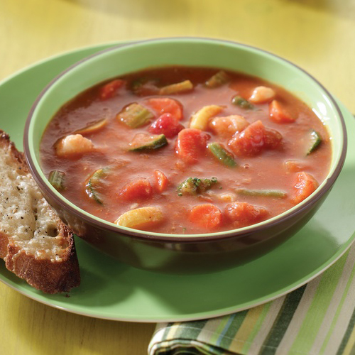 TOMATO SOUP WITH GARDEN VEGETABLES MAIN