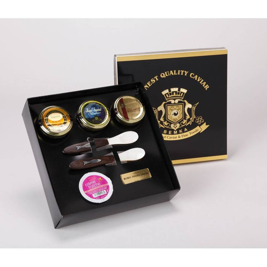 PRESTIGE CAVIAR GIFT BOX TRIAD MAIN