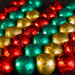 Milk Chocolate Foil Christmas Balls (12oz) THUMBNAIL